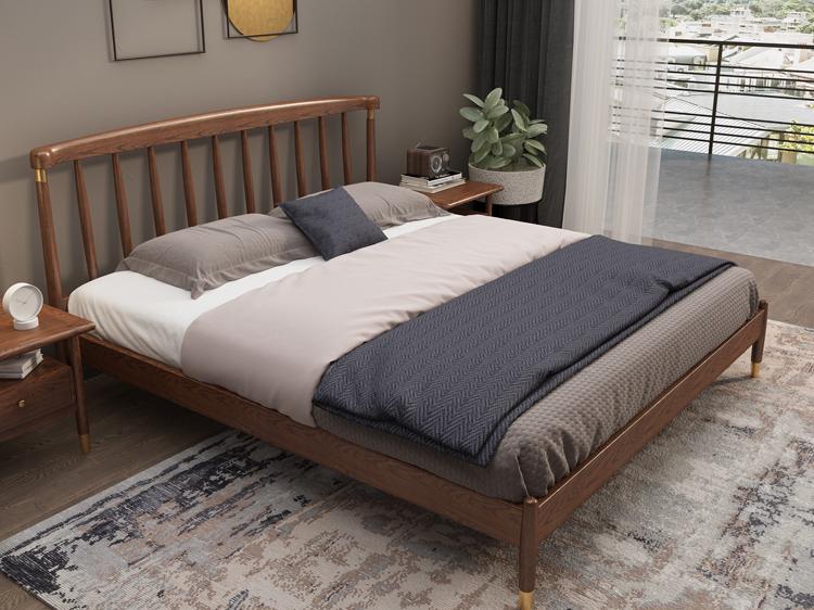 轻奢实木床01