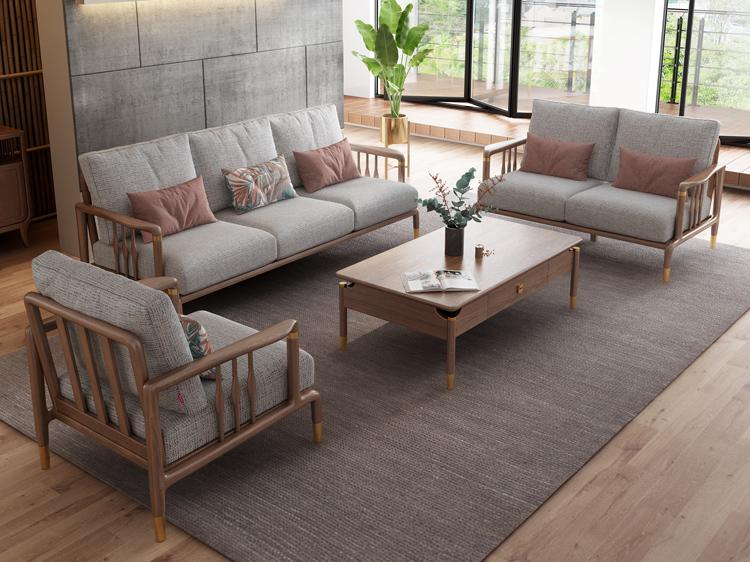 北欧风格轻奢系列沙发茶几组合03