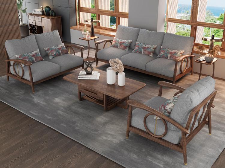 北欧风格轻奢系列沙发茶几组合05