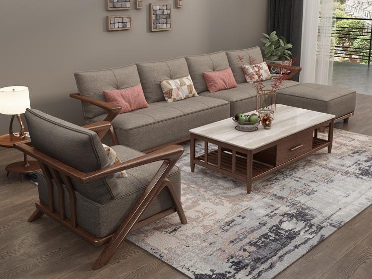 北欧风格轻奢系列沙发茶几组合06