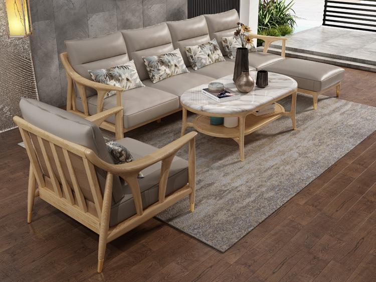 北欧风格轻奢系列沙发茶几组合09