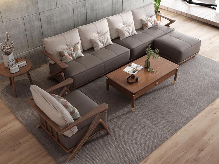 北欧风格轻奢系列沙发茶几组合10