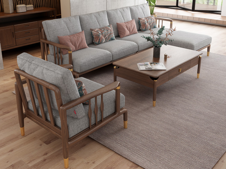 北欧风格轻奢系列沙发茶几组合11
