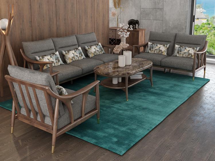 北欧风格轻奢系列沙发茶几组合12
