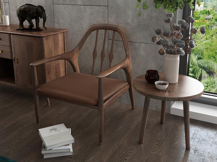 北欧轻奢沙发单椅01