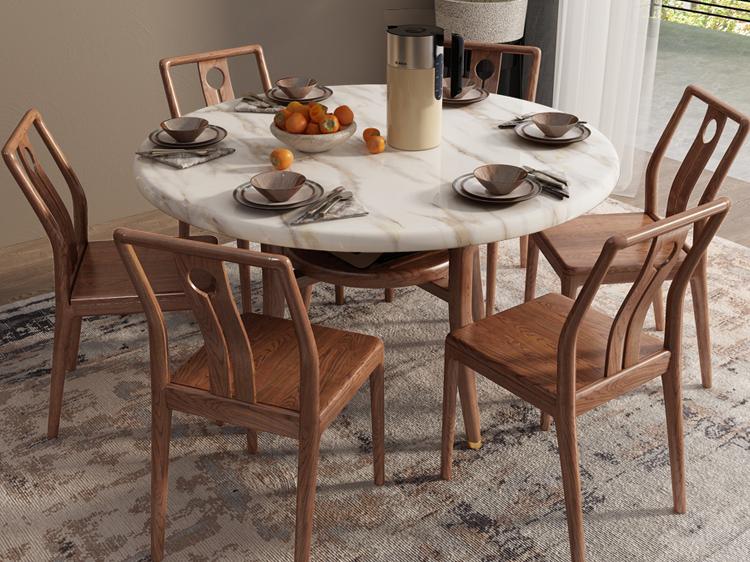 胡桃色餐桌01