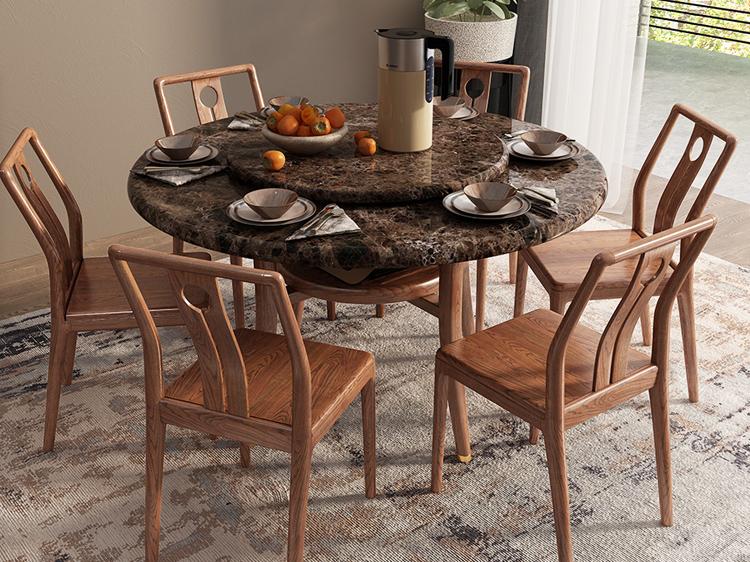 胡桃色餐桌02