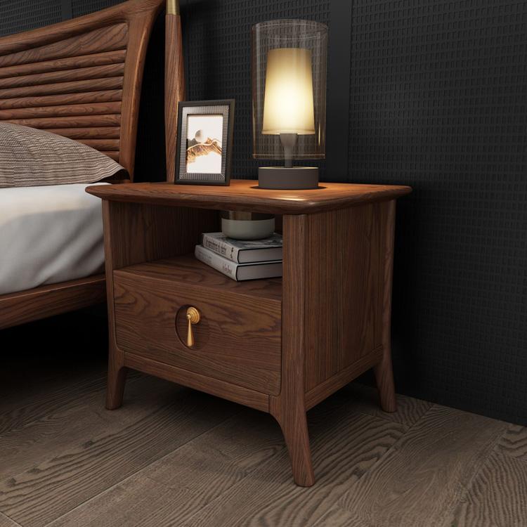 轻奢实木床头柜01-1