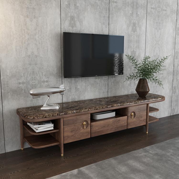 轻奢实木电视柜茶几组合01-2