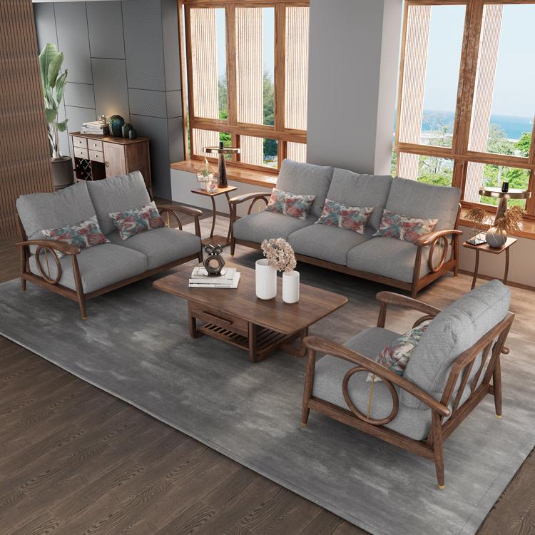 北欧风格轻奢系列沙发茶几组合05-1