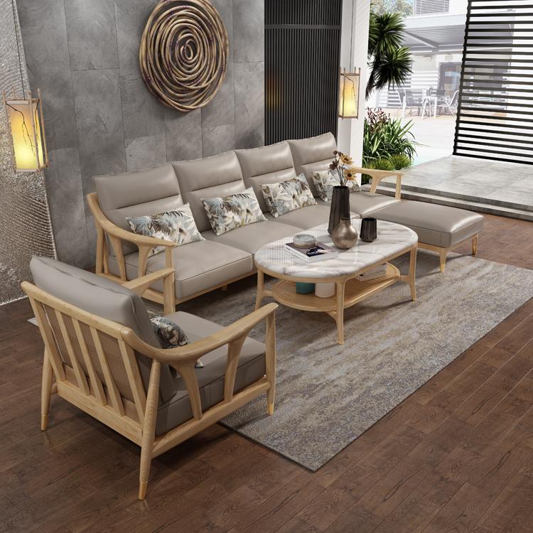 北欧风格轻奢系列沙发茶几组合09-1