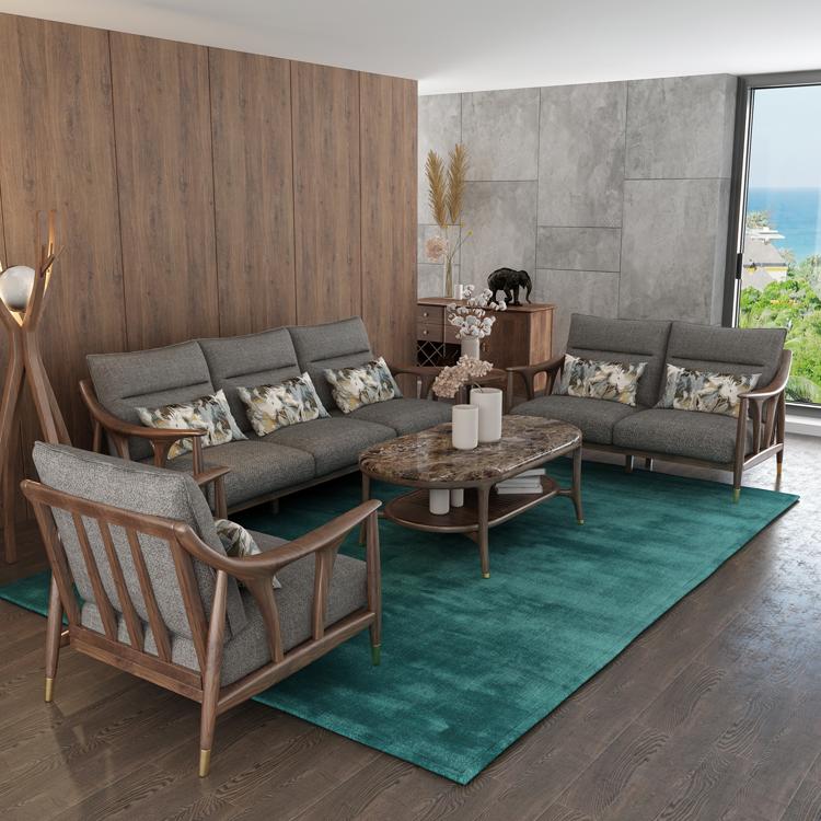 北欧风格轻奢系列沙发茶几组合12-1